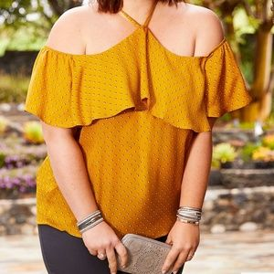 Maurices plus size off the shoulder top